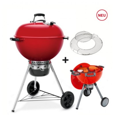 Master-Touch GBS 57 cm, Limited Edition rot + Spielzeuggrill Kettle
